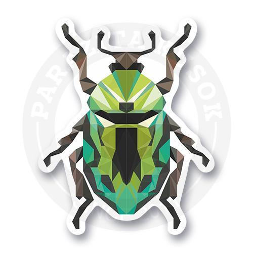 Лакшери зеленый жук. Лоу поли.<br>