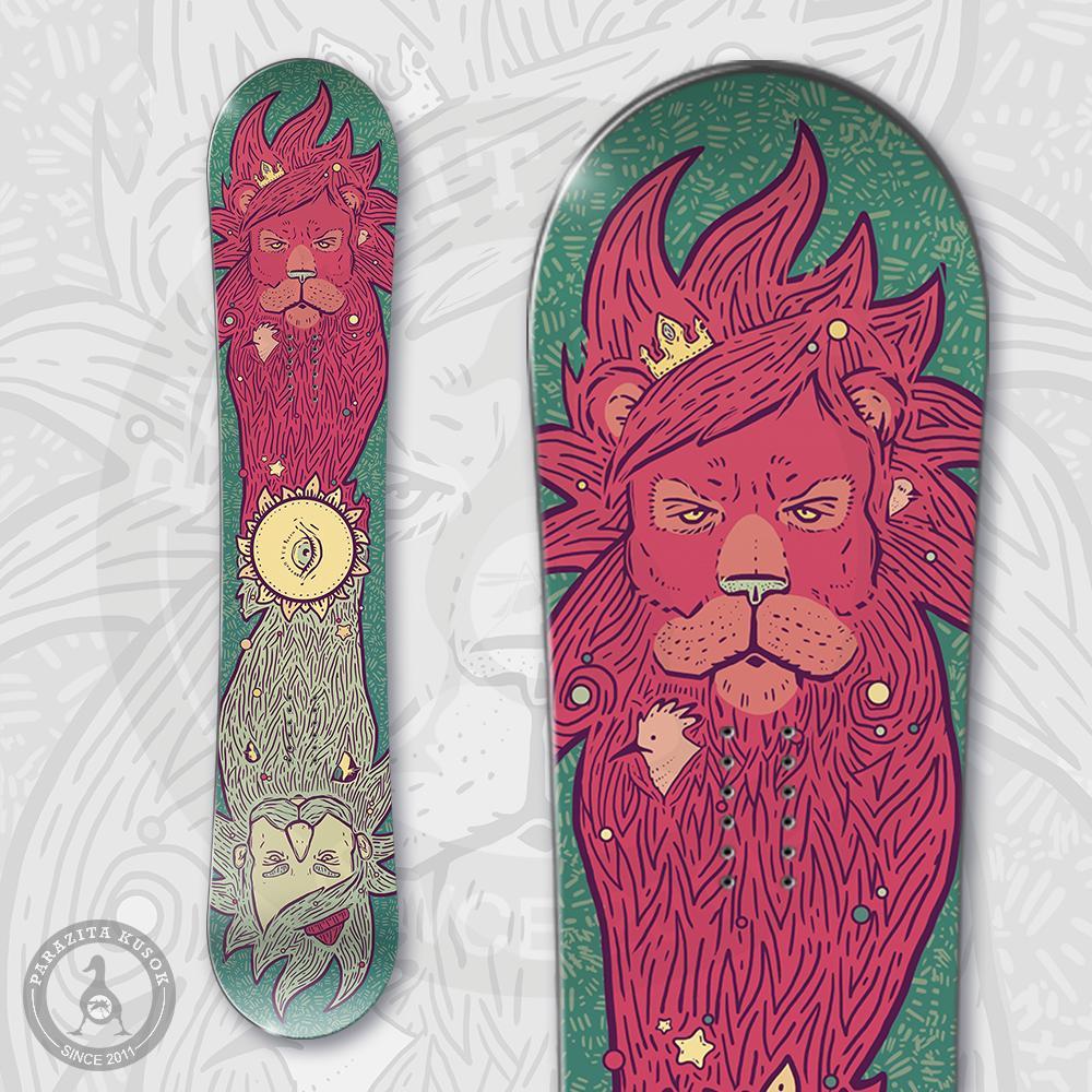 Наклейка на сноуборд Борода<br>