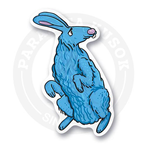 Синий ушастый кролик.<br>