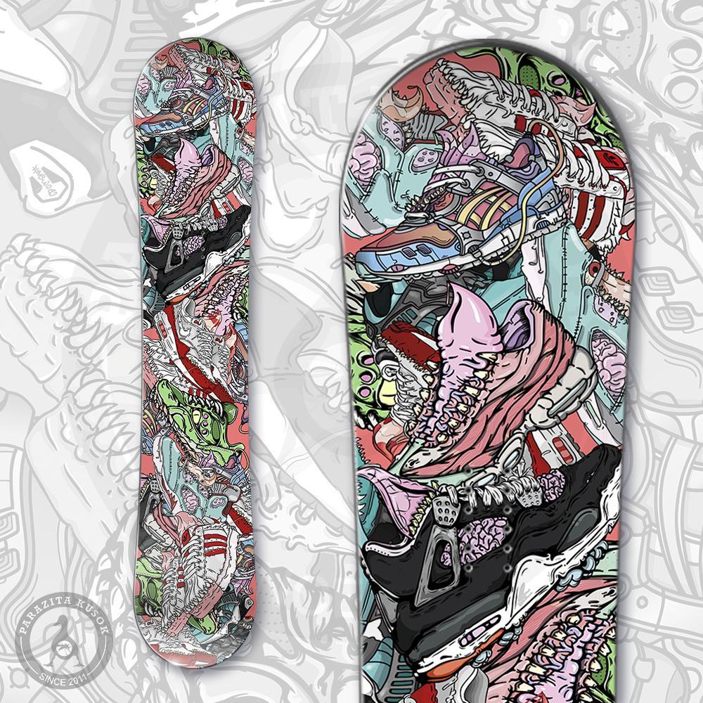 Наклейка на сноуборд Sneakers<br>