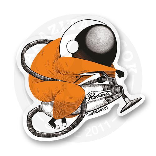 Стикер Космонавт на пылесосе<br>