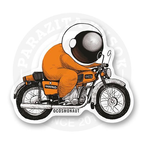 Космонавт на мотоцикле<br>