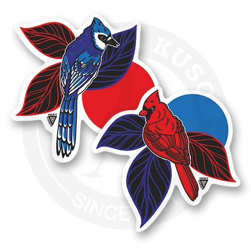 Набор стикеров Голубая сойка и Красный кардинал<br>