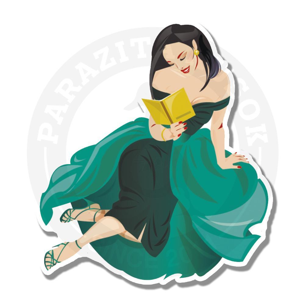Леди в зеленом платье<br>