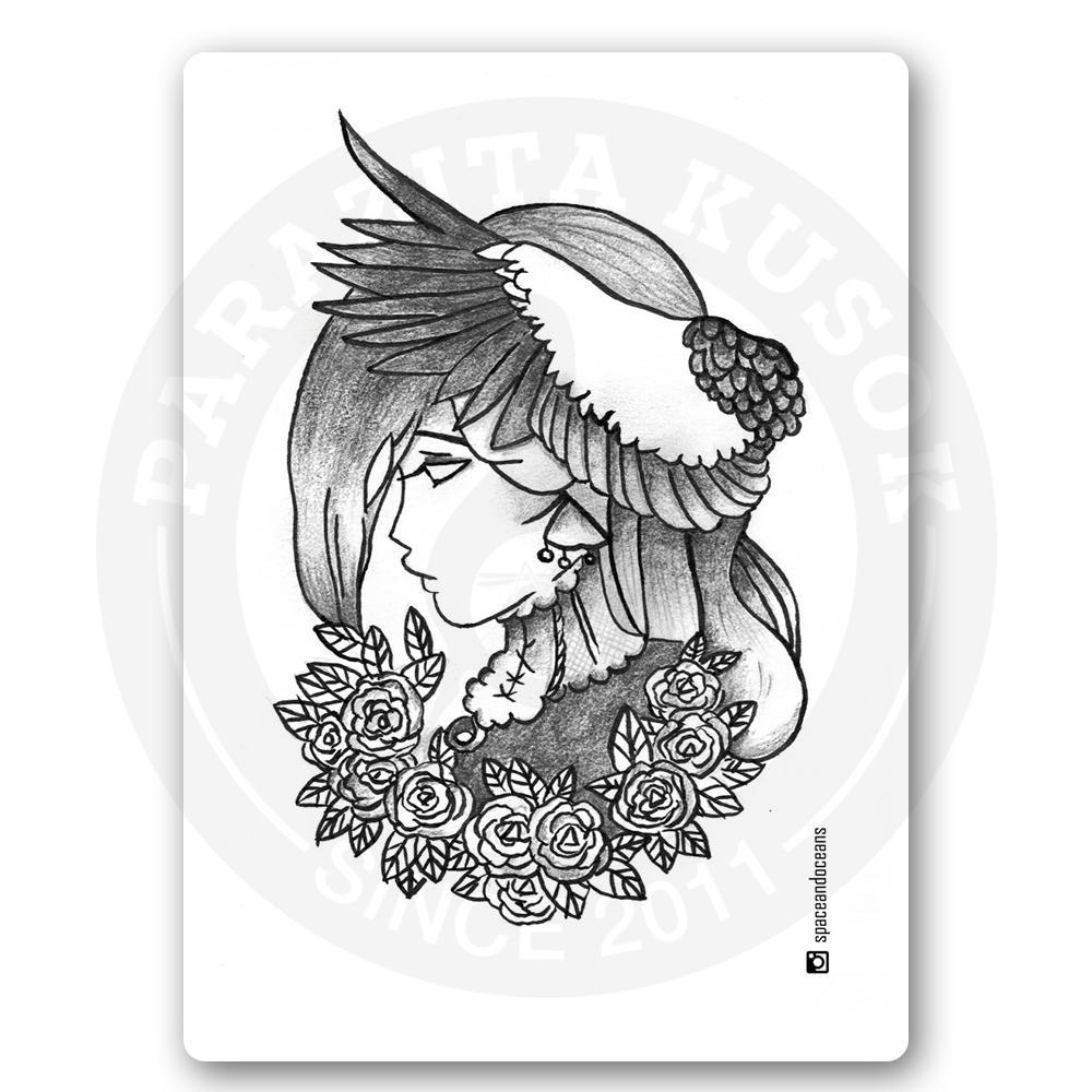 Девушка с крыльями аиста<br>