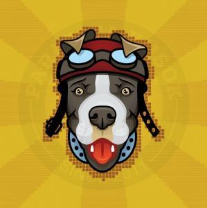 АВТОР:SCHERВиниловые наклейки Parazita Kusok<br>Наклейка собака<br>