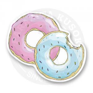 Стикер Два аппетитных пончика<br>
