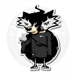Наклейка Енот/Sticker Raccoon<br>