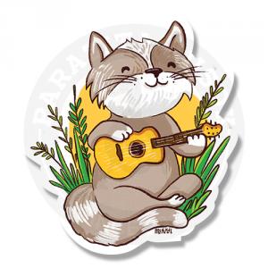 Котик с гитарой<br>