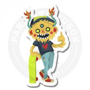 монстр-скейтбордист<br>