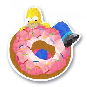 Стикер Гомер с пончиком / Симпсоны / The Simpsons<br>