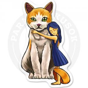котик с девочкой<br>