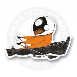 Космонавт в лодке<br>