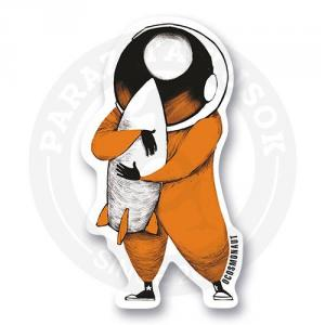 Космонавт обнимает ракету<br>