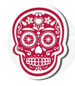 Наклейка Мексиканский Череп<br>