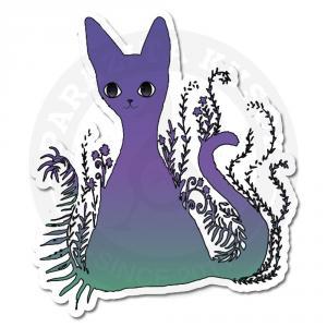 Фиолетово-бирюзовый волшебный котенок<br>