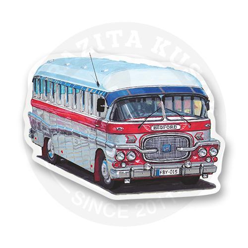 Стикер Ретро автобус<br>