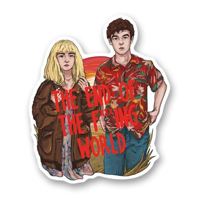 "Стикер ""The end of the f***ing world"""