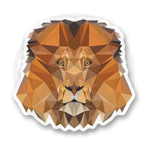 Стикер Лакшери лев. Low poly<br>
