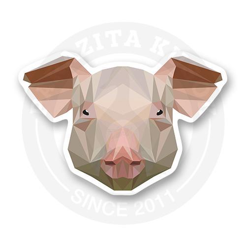 Стикер Лакшери свин. Low poly<br>