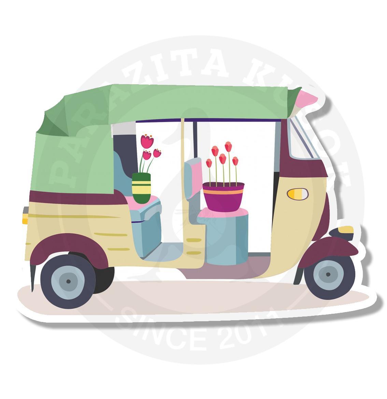 Машина с цветами<br>