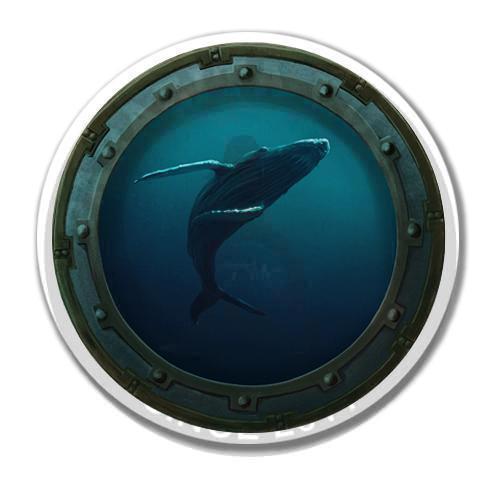 Наклейка Синий кит<br>