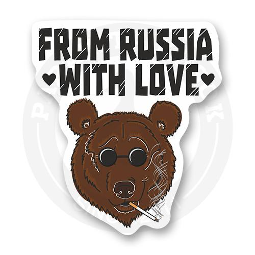 Стикер From Russia with love<br>