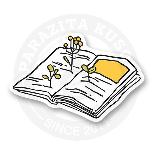 Стикер Цветы из книги<br>