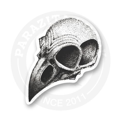 Стикер Череп-ворона<br>