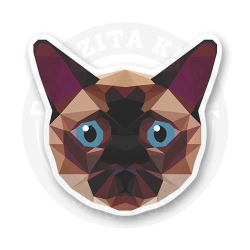 Стикер Сиамский лакшери кот<br>