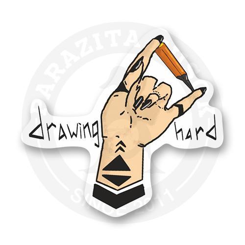 Стикер Рисующая рука<br>