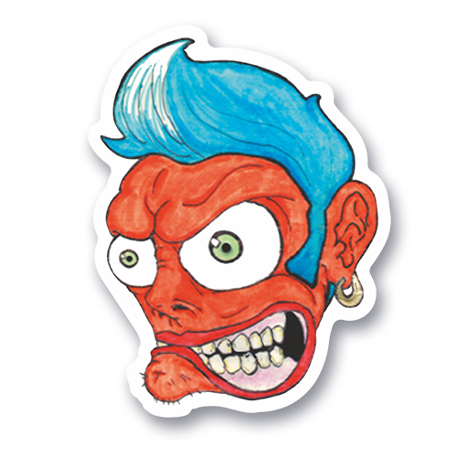 Sticker Angry Dude