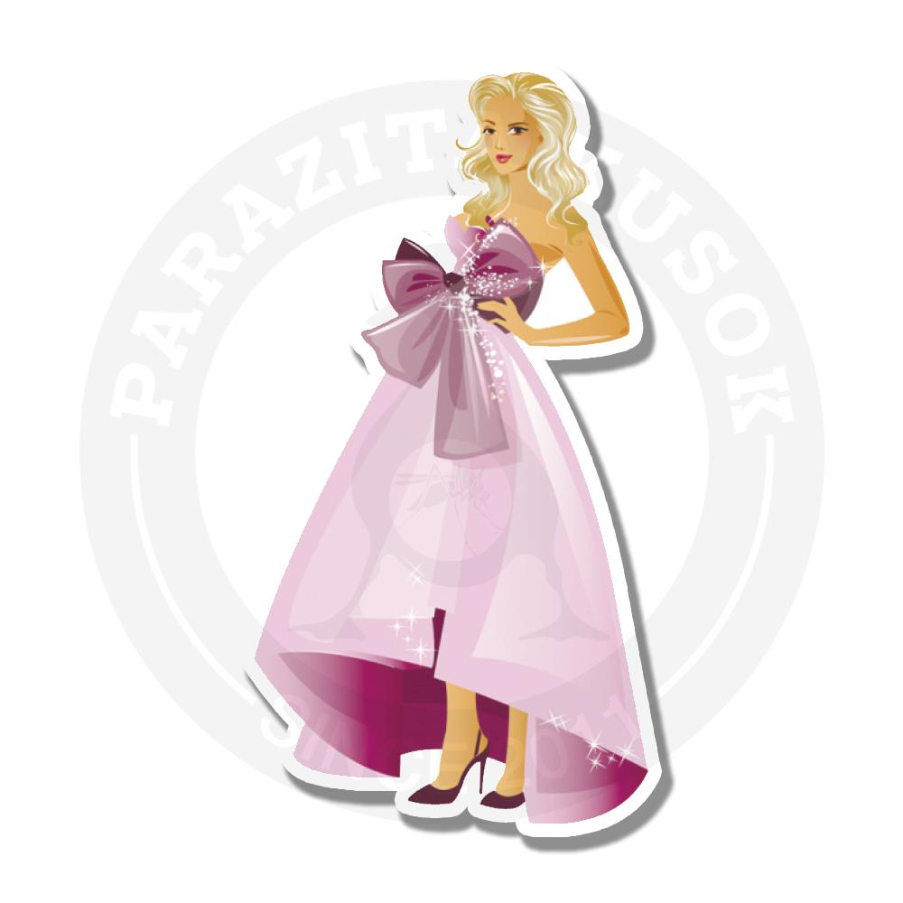 Леди в розовом платье<br>